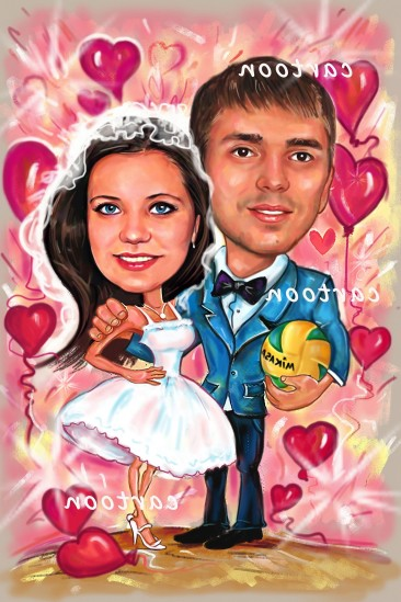 Свадебный шарж с оригинальным сюжетом в Луганске!