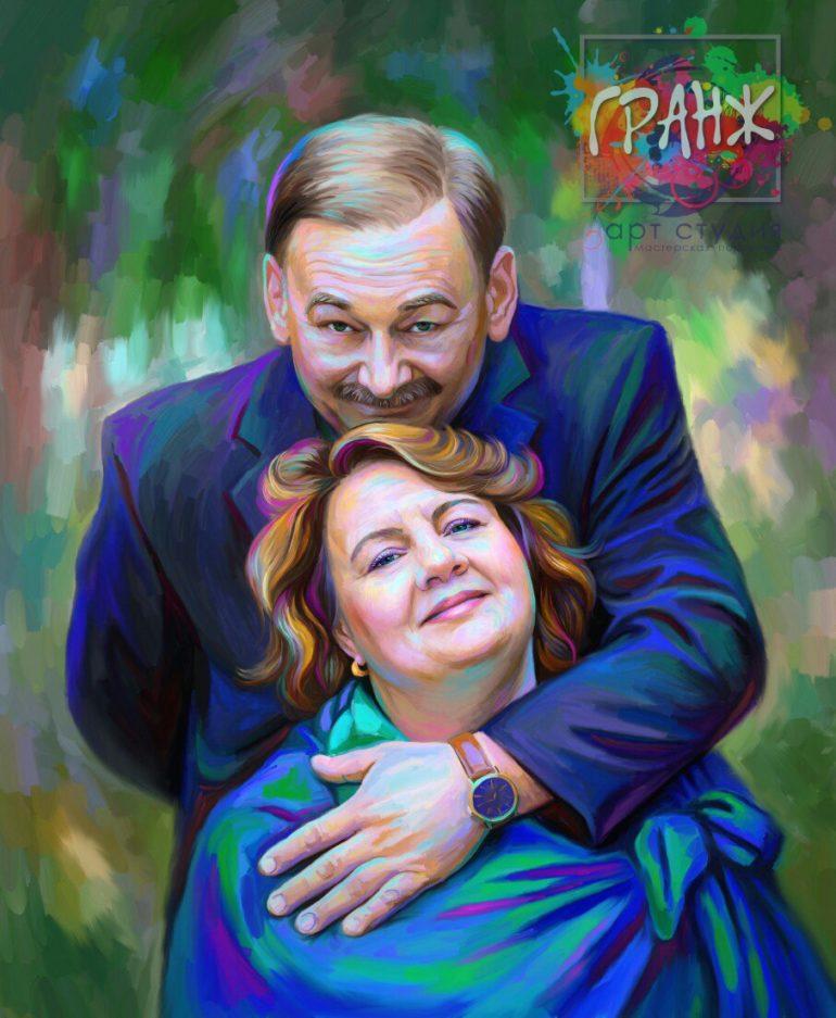 Портрет по фото на холсте Луганск