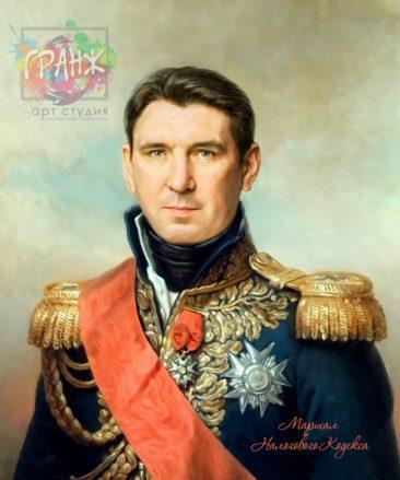Портрет по фото на холсте в подарок мужчине на 23 февраля Луганск