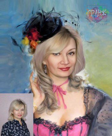 Заказать арт портрет по фото на холсте в Луганске