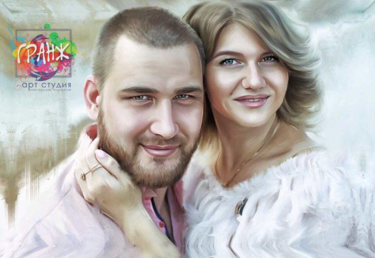 Где заказать портрет по фотографии на холсте в Луганске?