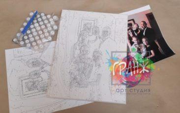 Картина по номерам по фото, портреты на холсте и дереве в Луганск